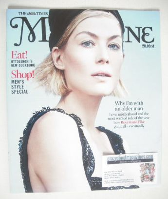 <!--2014-09-20-->The Times magazine - Rosamund Pike cover (20 September 201