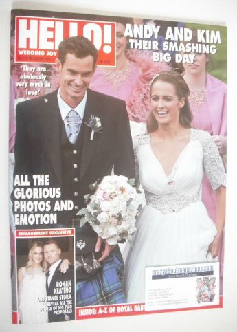 <!--2015-04-20-->Hello! magazine - Kim Sears and Andy Murray wedding cover