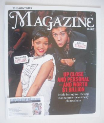<!--2013-10-05-->The Times magazine - Harry Styles and Rihanna cover (5 Oct