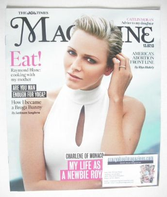 <!--2013-07-13-->The Times magazine - Princess Charlene of Monaco cover (13