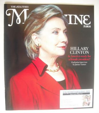 <!--2014-06-21-->The Times magazine - Hillary Clinton cover (21 June 2014)