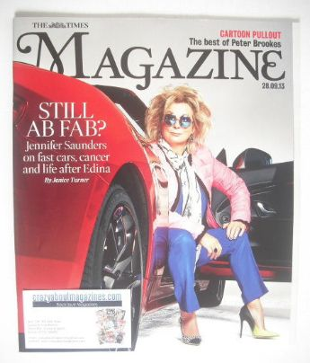 <!--2013-09-28-->The Times magazine - Jennifer Saunders cover (28 September