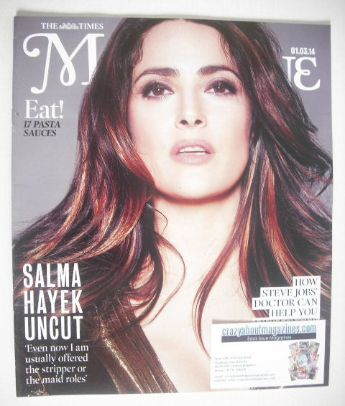<!--2014-03-01-->The Times magazine - Salma Hayek cover (1 March 2014)