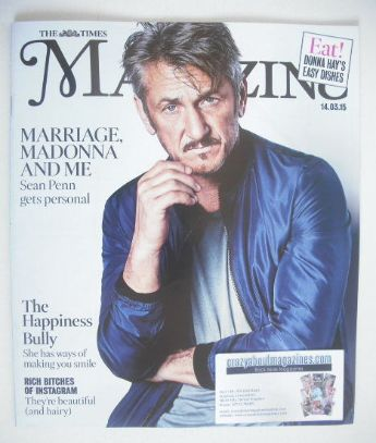 <!--2015-03-14-->The Times magazine - Sean Penn cover (14 March 2015)