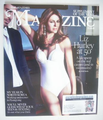 <!--2015-03-21-->The Times magazine - Elizabeth Hurley cover (21 March 2015