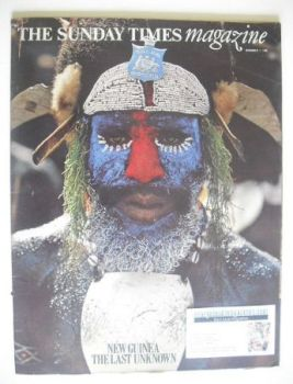 The Sunday Times magazine - New Guinea The Last Unknown cover (7 December 1969)