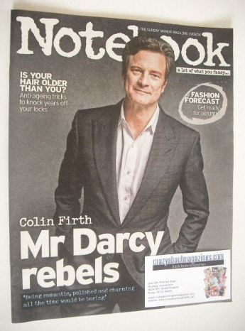 <!--2014-08-31-->Notebook magazine - Colin Firth cover (31 August 2014)