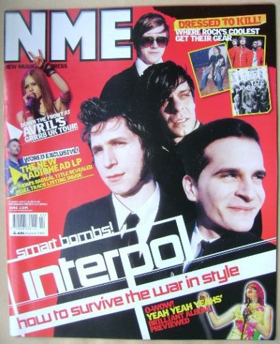 <!--2003-03-29-->NME magazine - Interpol cover (29 March 2003)