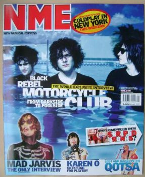 NME magazine - Black Rebel Motorcycle Club cover (14 June 2003)