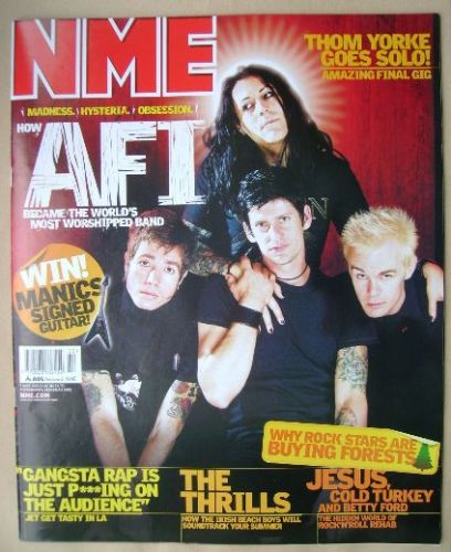 <!--2003-06-07-->NME magazine - AFI cover (7 June 2003)