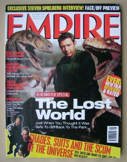 <!--1997-08-->Empire magazine - Jeff Goldblum cover (August 1997 - Issue 98