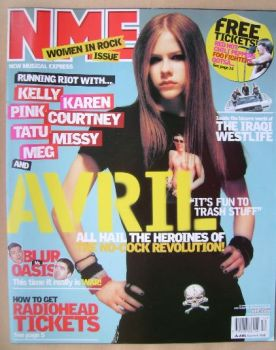 NME magazine - Avril Lavigne cover (22 March 2003)