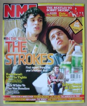 NME magazine - The Strokes cover (25 October 2003)