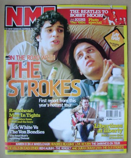<!--2003-10-25-->NME magazine - The Strokes cover (25 October 2003)