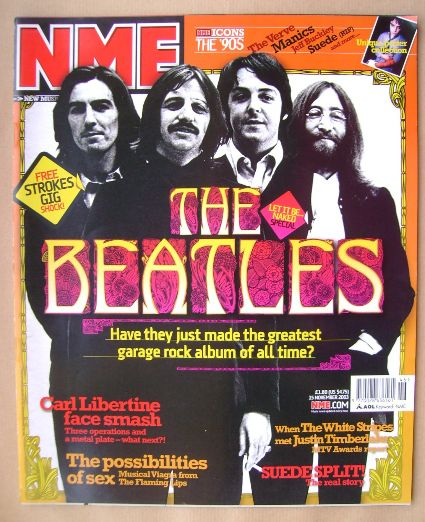 <!--2003-11-15-->NME magazine - The Beatles cover (15 November 2003)