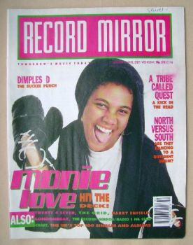 Record Mirror magazine - Monie Love cover (15 December 1990)