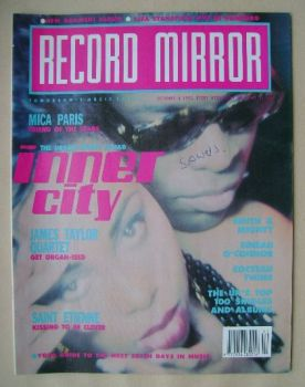 Record Mirror magazine - Inner City cover (6 October 1990)