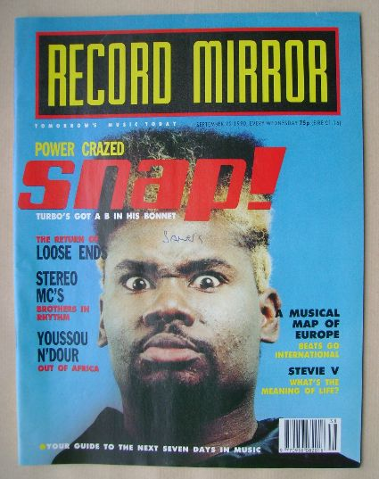 <!--1990-09-22-->Record Mirror magazine - 22 September 1990