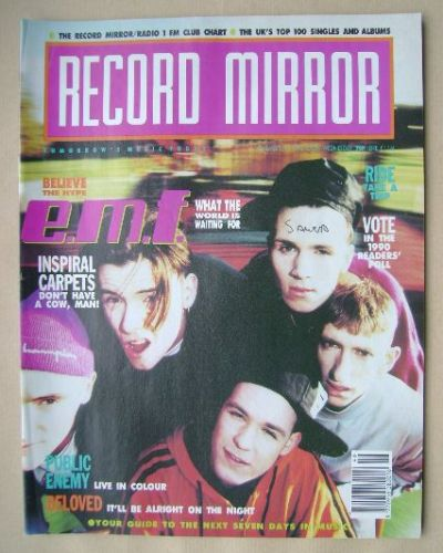 <!--1990-11-17-->Record Mirror magazine - E.M.F. cover (17 November 1990)