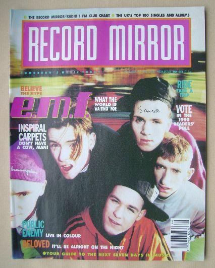 <!--1990-11-17-->Record Mirror magazine - E.M.F. cover (17 November 1990)