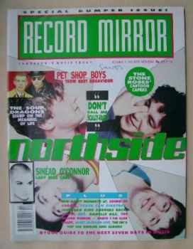 Record Mirror magazine - Northside cover (3 November 1990)