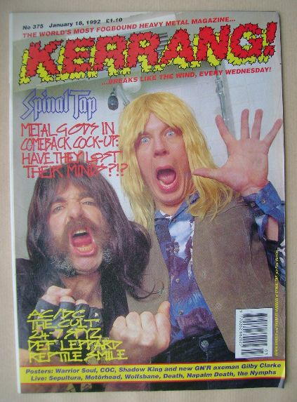 <!--1992-01-18-->Kerrang magazine - Derek Smalls and David St Hubbins cover