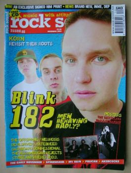 Rock Sound magazine - Blink-182 cover cover (December 2003)