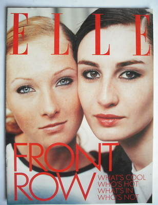 British Elle supplement - Maggie Rizer and Erin O'Connor cover - Front Row