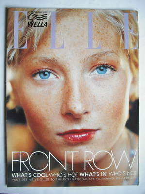 British Elle supplement - Front Row (Spring/Summer 2000 - Maggie Rizer cove