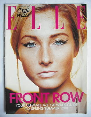 British Elle supplement - Front Row (Spring/Summer 2001 - Maggie Rizer cove