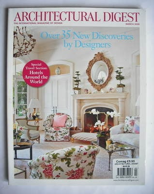 Architectural Digest magazine - March 2009