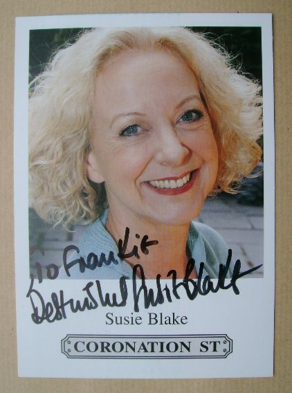 Susie Blake autograph (hand-signed Coronation Street cast card)