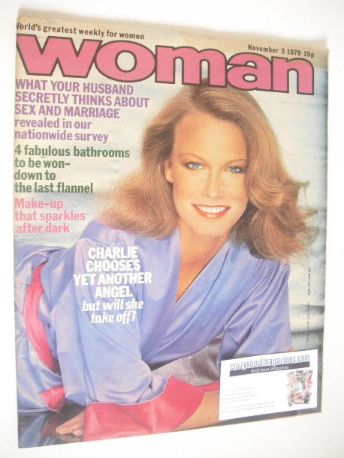 <!--1979-11-03-->Woman magazine - Shelley Hack cover (3 November 1979)