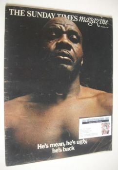 The Sunday Times magazine - Sonny Liston cover (14 December 1969)