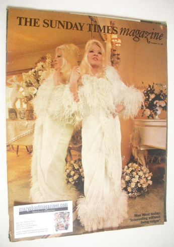 <!--1969-12-28-->The Sunday Times magazine - Mae West cover (28 December 19