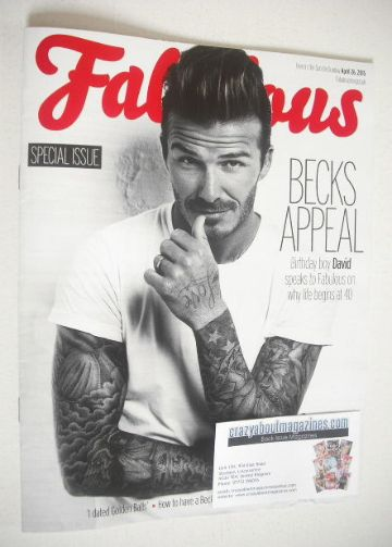 <!--2015-04-26-->Fabulous magazine - David Beckham cover (26 April 2015)