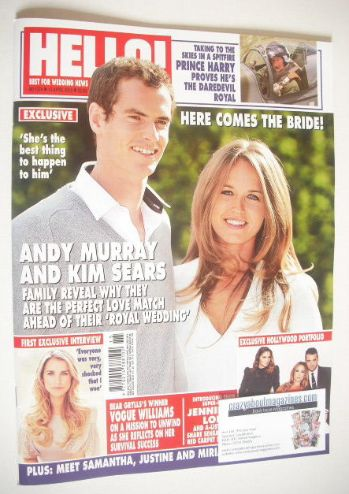 <!--2015-04-13-->Hello! magazine - Andy Murray and Kim Sears cover (13 Apri