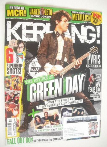 <!--2015-04-24-->Kerrang magazine - Green Day cover (24 April 2015 - Issue