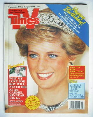 <!--1989-07-29-->TV Times magazine - Princess Diana cover (29 July - 4 Augu