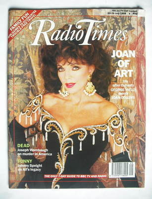 <!--1989-07-22-->Radio Times magazine - Joan Collins cover (22-28 July 1989