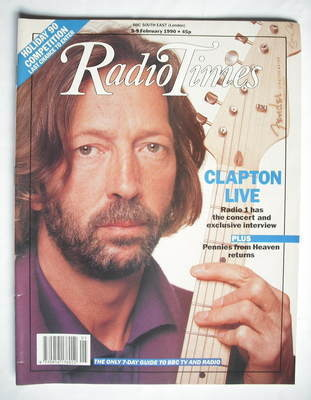 <!--1990-02-03-->Radio Times magazine - Eric Clapton cover (3-9 February 19