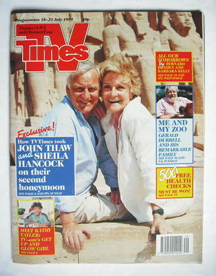 <!--1989-07-15-->TV Times magazine - John Thaw and Sheila Hancock cover (15