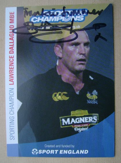 Lawrence Dallaglio autograph