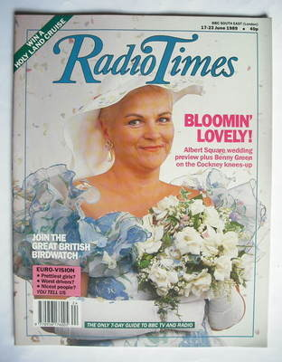 <!--1989-06-17-->Radio Times magazine - Pam St Clement cover (17-23 June 19