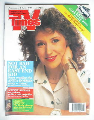 <!--1989-06-03-->TV Times magazine - Anita Dobson cover (3-9 June 1989)
