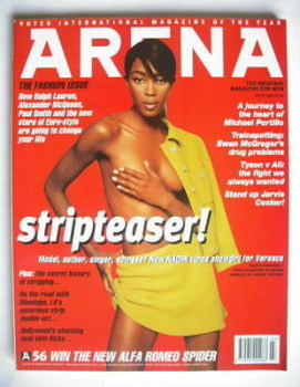 Arena magazine - March 1996 - Naomi Campbell cover