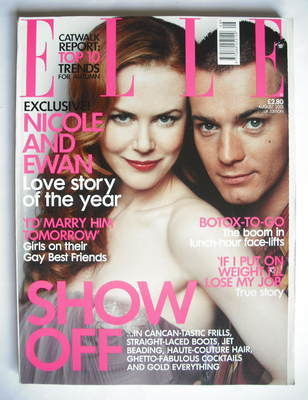 <!--2001-08-->British Elle magazine - August 2001 - Nicole Kidman and Ewan