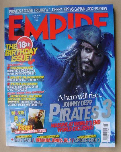 <!--2007-06-->Empire magazine - Johnny Depp cover (June 2007 - Issue 216)