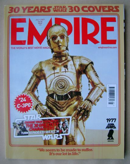 <!--2007-07-->Empire magazine - C-3PO cover (July 2007 - Issue 217)
