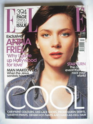<!--2001-03-->British Elle magazine - March 2001 - Anna Friel cover